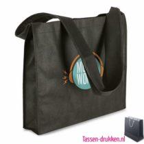 Non woven draagtas bedrukken zwart stevig, bedrukte Non woven tas, goedkope Non woven tas met logo