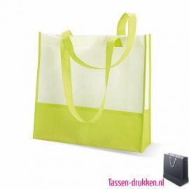 Non woven strandtas bedrukken groen, bedrukte Non woven tas, goedkope Non woven tas met logo