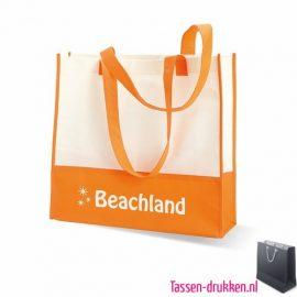 Non woven strandtas bedrukken oranje, bedrukte Non woven tas, goedkope Non woven tas met logo