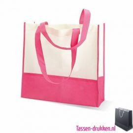 Non woven strandtas bedrukken roze, bedrukte Non woven tas, goedkope Non woven tas met logo