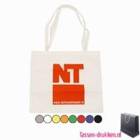 Non woven tas lang bedrukken, Non woven tas bedrukt, bedrukte Non woven tas, goedkope Non woven tas met logo, kraft tas