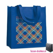 Non woven tasje goedkoop bedrukken blauw, bedrukte Non woven tas, goedkope Non woven tas met logo