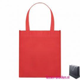 Non woven tasje goedkoop bedrukken rode, bedrukte Non woven tas, goedkope Non woven tas met logo