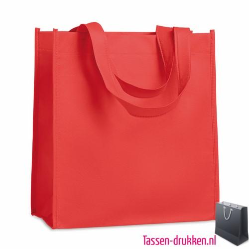 Non woven tasje goedkoop bedrukken rood, bedrukte Non woven tas, goedkope Non woven tas met logo