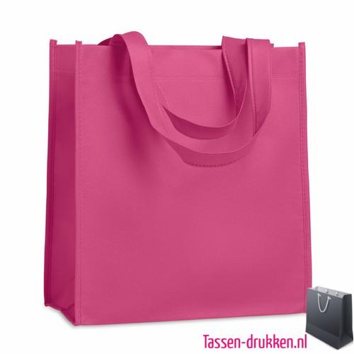 Non woven tasje goedkoop bedrukken roze, bedrukte Non woven tas, goedkope Non woven tas met logo