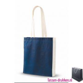 Non woven tassen bedrukken blauw, bedrukte Non woven tas, goedkope Non woven tas met logo