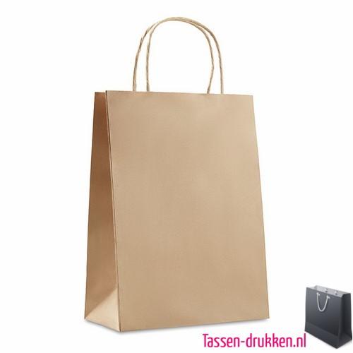 Papieren geschenktas bedrukken kraft, papieren tas bedrukt, bedrukte papieren tas met logo, goedkope papieren tas