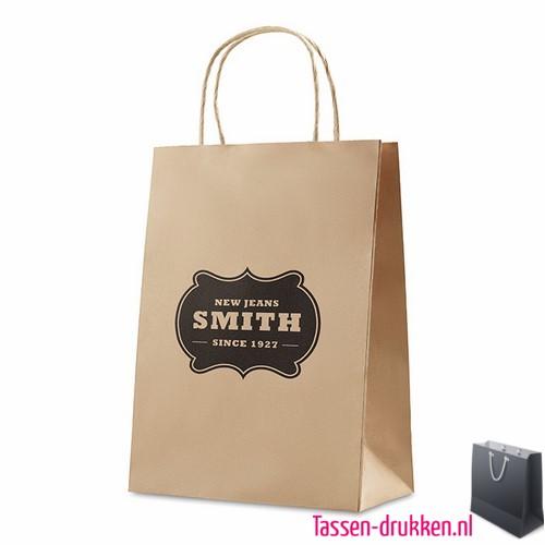 Papieren geschenktas bedrukken met logo, papieren tas bedrukt, bedrukte papieren tas met logo, goedkope papieren tas