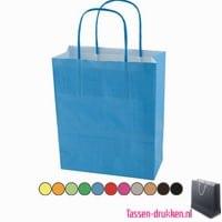 Papieren kraft color bedrukken, papieren tas bedrukt, bedrukte papieren tas met logo, goedkope papieren tas