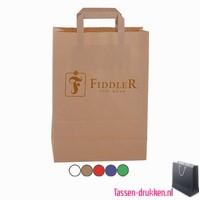 Papieren tas bedrukken, papieren tas bedrukt, bedrukte papieren tas, goedkope papieren tas met logo, kraft tas