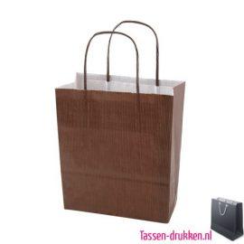 Papieren tas color bedrukken bruin, papieren tas bedrukt, bedrukte papieren tas met logo, goedkope papieren tas