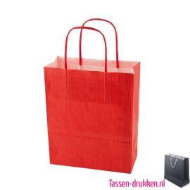 Papieren tas color bedrukken rood, papieren tas bedrukt, bedrukte papieren tas met logo, goedkope papieren tas