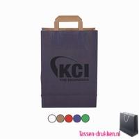 Papieren tas klein bedrukken, papieren tas bedrukt, bedrukte papieren tas, goedkope papieren tas met logo, kraft tas