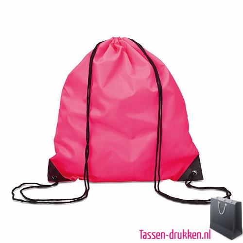 Rugzakje goedkoop bedrukken roze, rugzakje bedrukt, bedrukte rugzak, goedkope rugzak