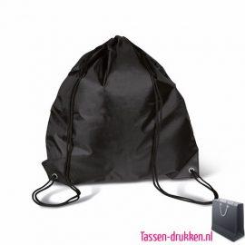 Rugzakje goedkoop bedrukken zwart, rugzakje bedrukt, bedrukte rugzak, goedkope rugzak