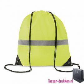 Rugzakje safe bedrukken neon, rugzakje bedrukt, bedrukte rugzakje, goedkoop sportrugzakje