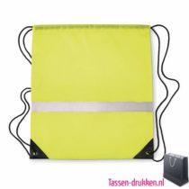 Rugzakje safe bedrukken neon geel, rugzakje bedrukt, bedrukte rugzakje, goedkoop sportrugzakje