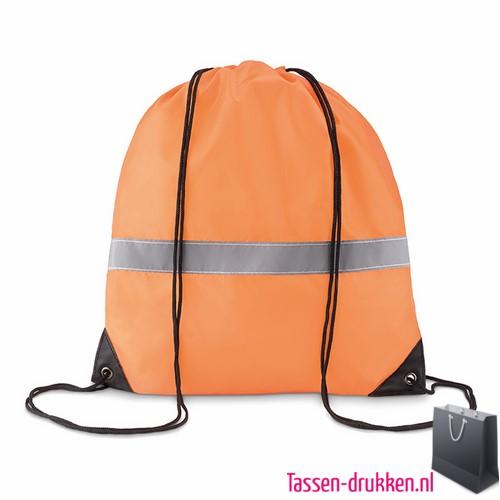 Rugzakje safe bedrukken oranje, rugzakje bedrukt, bedrukte rugzakje, goedkoop sportrugzakje