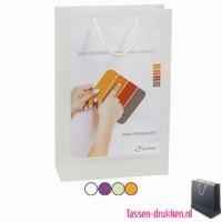 Transparante tas A4 met 2 vensters bedrukken, transparante tas A4 inlay, goedkope transparante cadeau tas, transparante beurstas