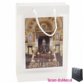 Transparante tas A5 met 2 vensters bedrukken, transparante tas A4 inlay, goedkope transparante cadeau tas, transparante beurstas