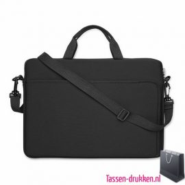 laptoptas-14-inch bedrukken zwart, laptoptas bedrukt, bedrukte laptoptas met logo, goedkope laptoptas