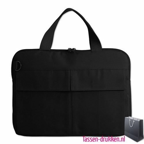 laptoptas-14-inch-zware-kwaliteit zwart bedrukken goedkoop, laptoptas bedrukt, bedrukte laptoptas met logo, goedkope laptoptas