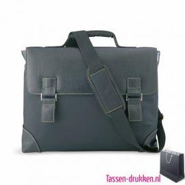 laptoptas-akte-extra-zware-kwaliteit bedrukken zwart goedkoop, laptoptas bedrukt, bedrukte laptoptas met logo, goedkope laptoptas