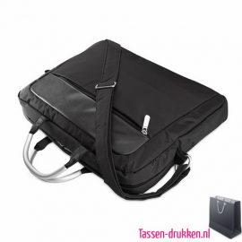 laptoptas-microvezel-liggend bedrukt, laptoptas bedrukt, bedrukte laptoptas met logo, goedkope laptoptas