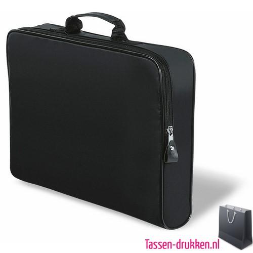 Documententas polyester bedrukken zwart, , Documententas bedrukt, goedkope Documententas met logo